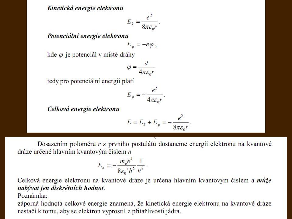 Niels Henrik David Bohr (1885-1962) energie: volná částice může mít spojitou energii, v ostatních případech je energie kvantována