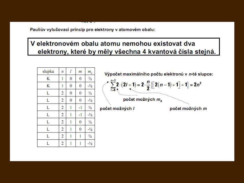 V soustavě stejných fermionů nemohou existovat 2 fermiony v totožném stavu. Pauliův vylučovací princip pro fermiony platí Pauliův vylučovací princip :