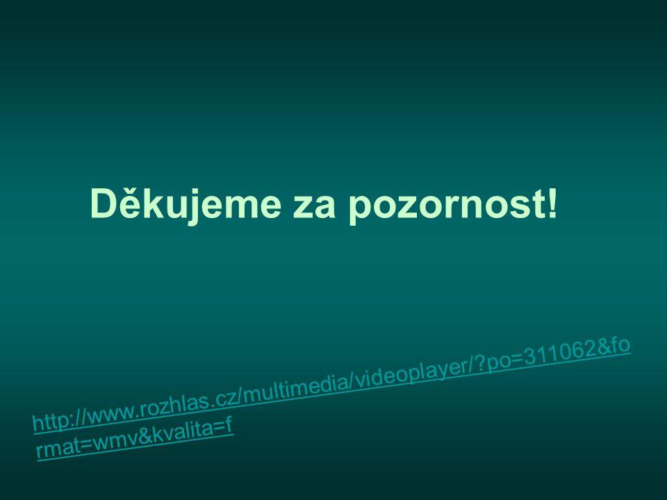 Děkujeme za pozornost! http://www.rozhlas.cz/multimedia/videoplayer/?po=311062&fo rmat=wmv&kvalita=f