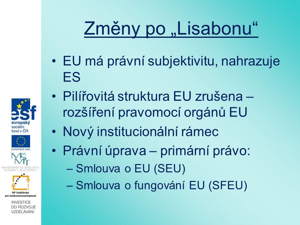 OCHŽP jako cíl EU Čl.3 odst. 3 SEU: Unie vytváří vnitřní trh.