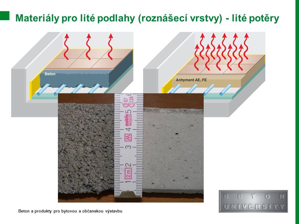 Materiály pro lité podlahy (roznášecí vrstvy) - lité potěry