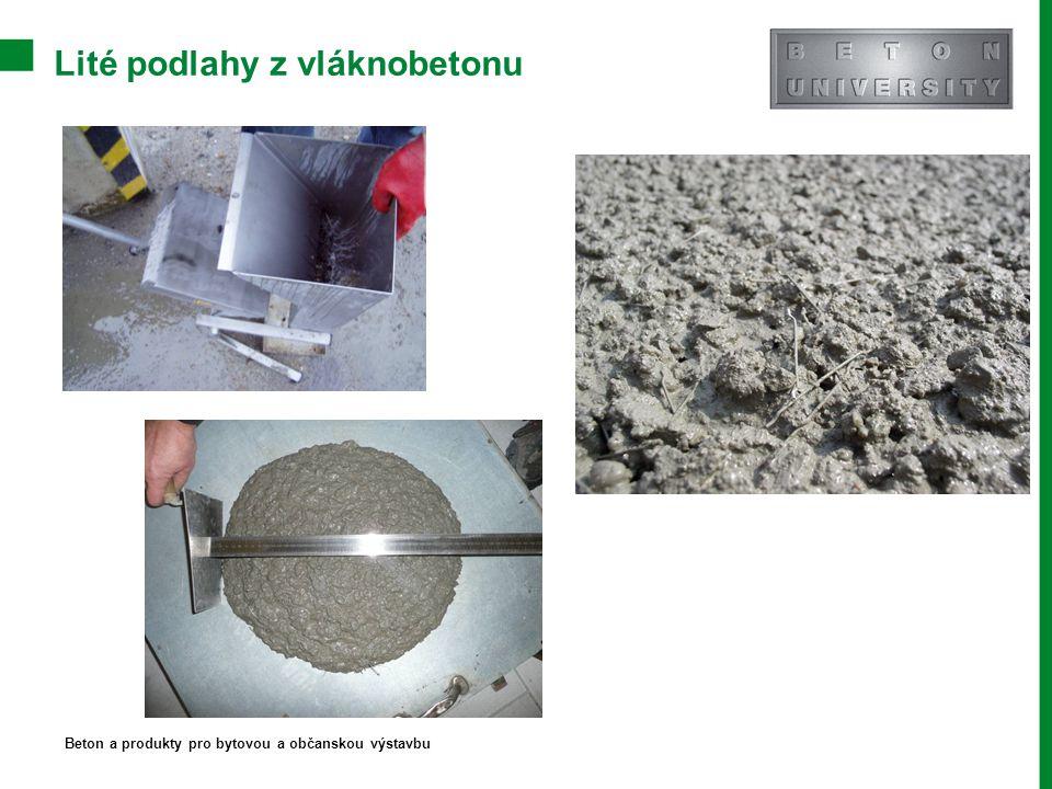 Lité podlahy z vláknobetonu Beton a produkty pro bytovou a občanskou výstavbu