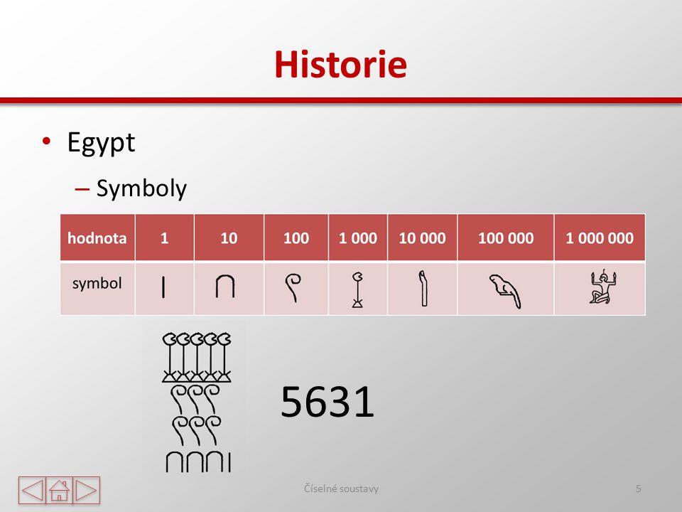 Historie Egypt – Symboly Číselné soustavy5 5631