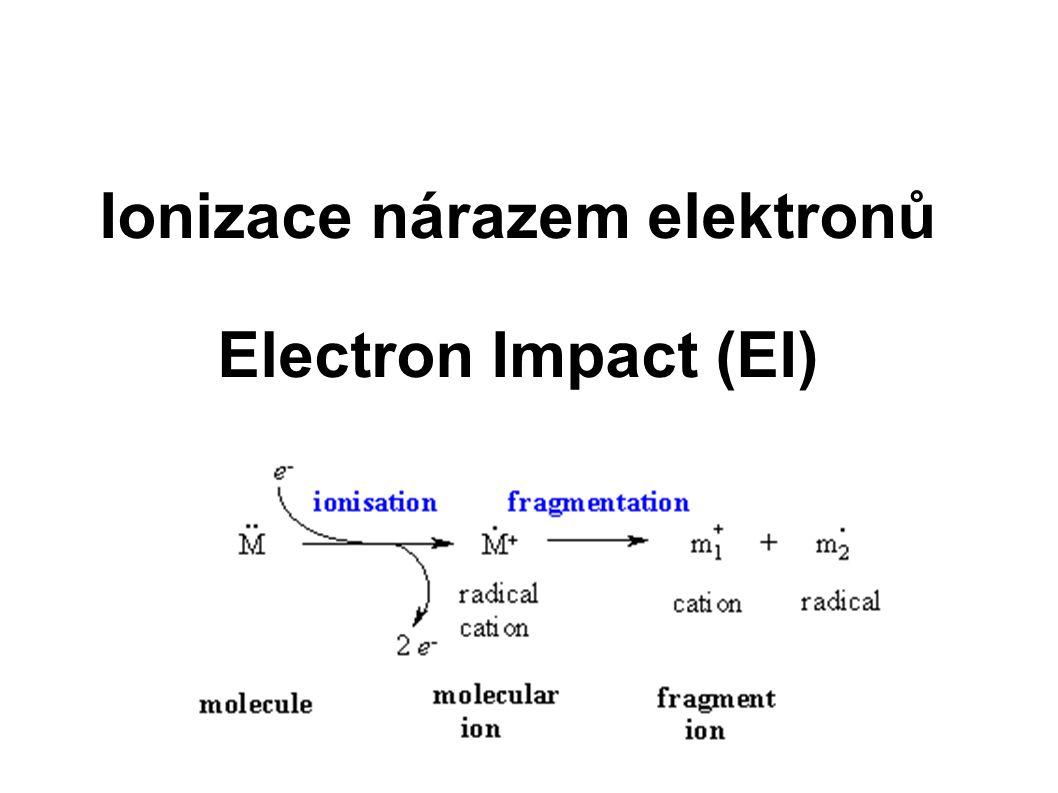 Ionizace nárazem elektronů Electron Impact (EI)