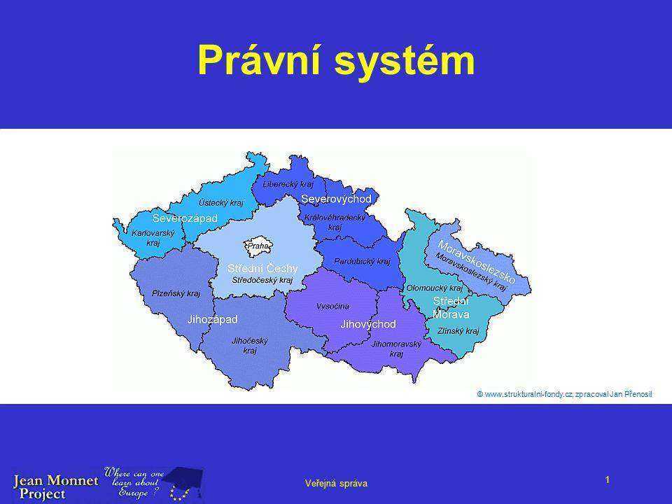1 Veřejná správa Právní systém © www.strukturalni-fondy.cz, zpracoval Jan Přenosil