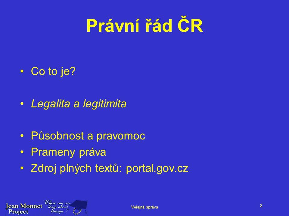 2 Veřejná správa Právní řád ČR Co to je.
