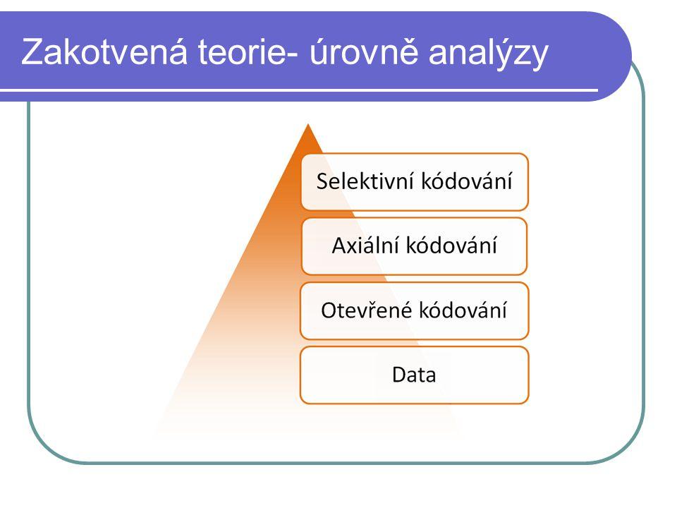 Zakotvená teorie- úrovně analýzy