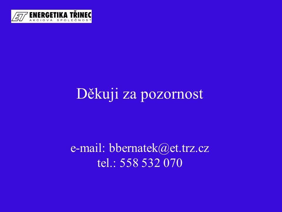 Děkuji za pozornost e-mail: bbernatek@et.trz.cz tel.: 558 532 070