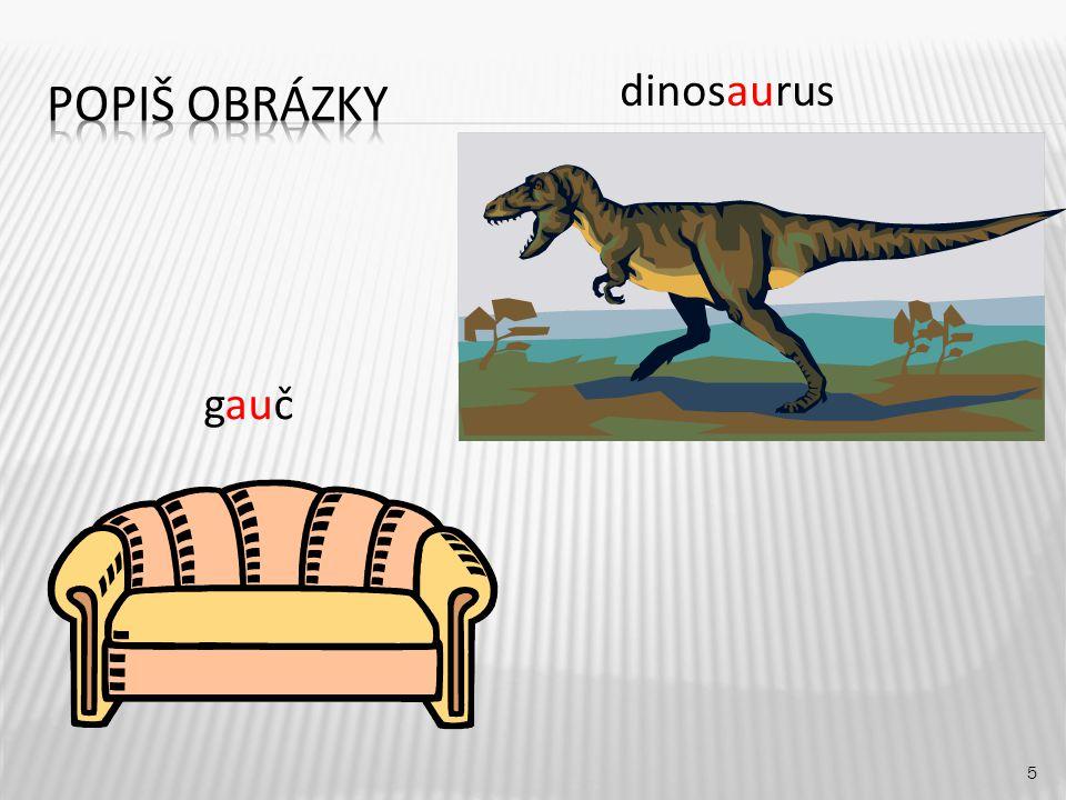 dinosaurus 5 gauč