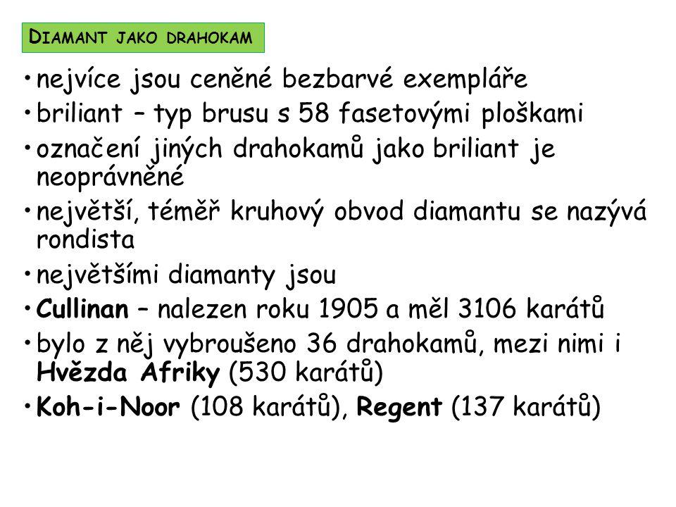 D IAMANTY ZÍSKANÉ Z C ULLINANU 3