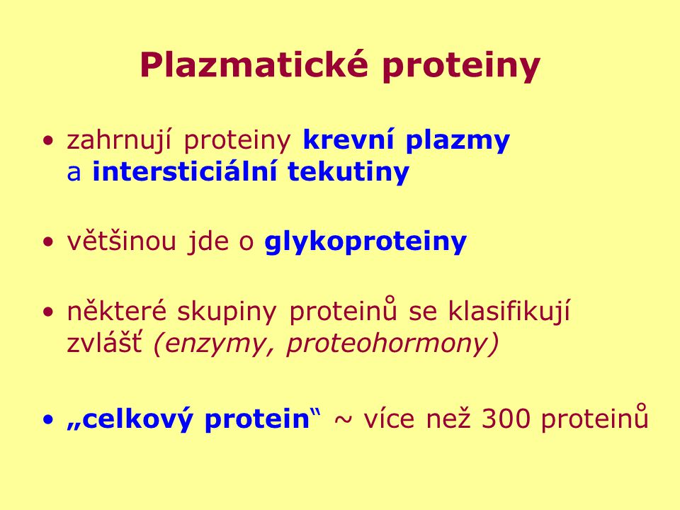 Zastoupení jednotlivých proteinů v plazmě Obrázek je převzat z http://www.beckmancoulter.com/products/instrument/protein/proteomelab_igy_dcr.asp (únor 2007)http://www.beckmancoulter.com/products/instrument/protein/proteomelab_igy_dcr.asp