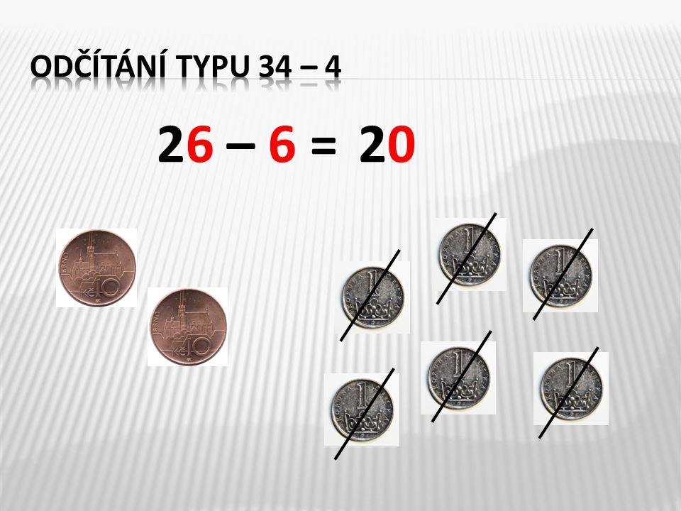 Znázorni pomocí desítek a jednotek: 46 – 6 = ___73 – 3 = ___ 4 10 1 1 1 1 1 1 1 1 1 4070