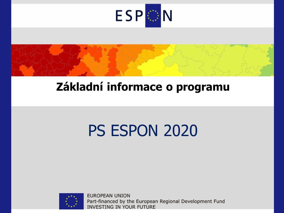 Základní informace o programu PS ESPON 2020