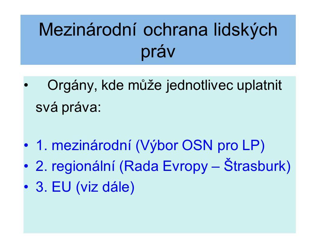 Evropská unie Jednotlivec subjektem práva ES/EU (Van Gend en Loos 26/62, Costa v.