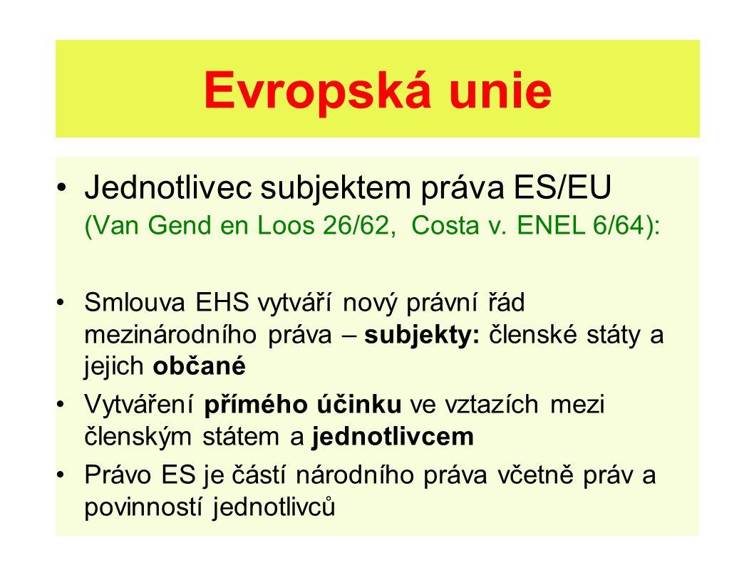 Listina základních práv EU Článek 51 - Oblast použití – vysvětlivky Listina se v prvé řadě vztahuje na orgány a instituce Unie, v souladu se zásadou subsidiarity.