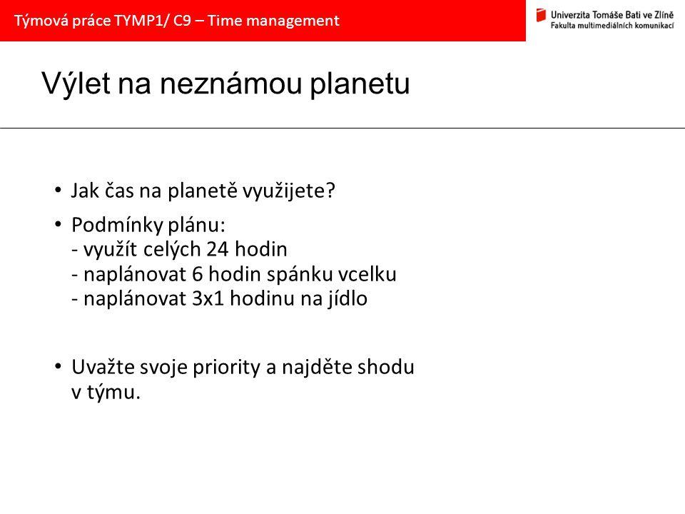 Výlet na neznámou planetu Jak čas na planetě využijete.