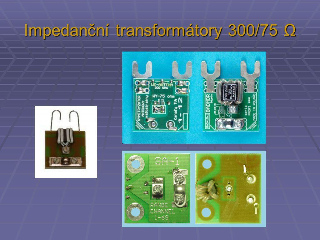 Impedanční transformátory 300/75 Ω