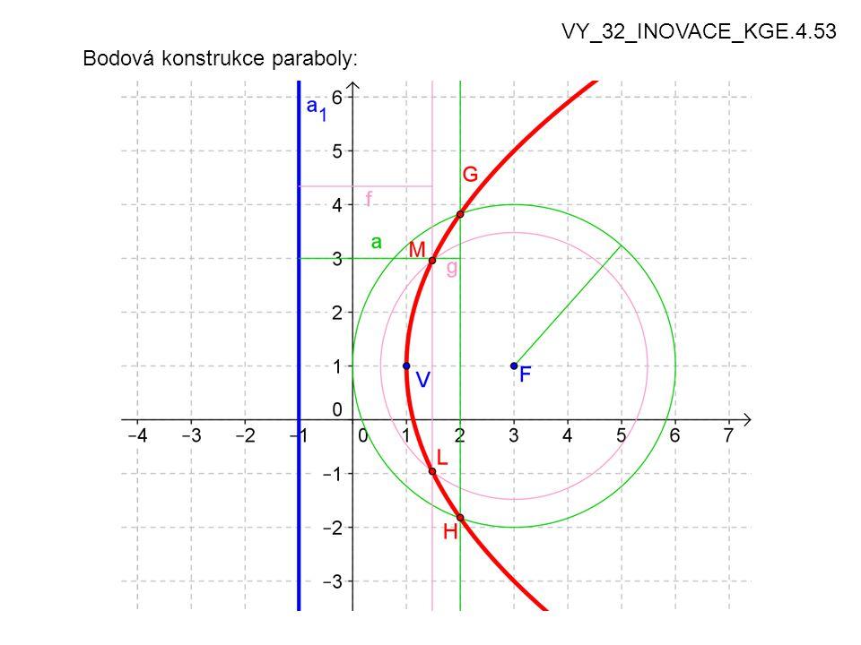 Bodová konstrukce paraboly: VY_32_INOVACE_KGE.4.53
