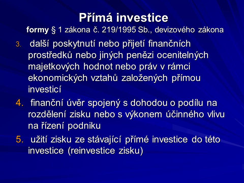 Obrana přímých investic proti politickým a ekonomickým rizikům 1.
