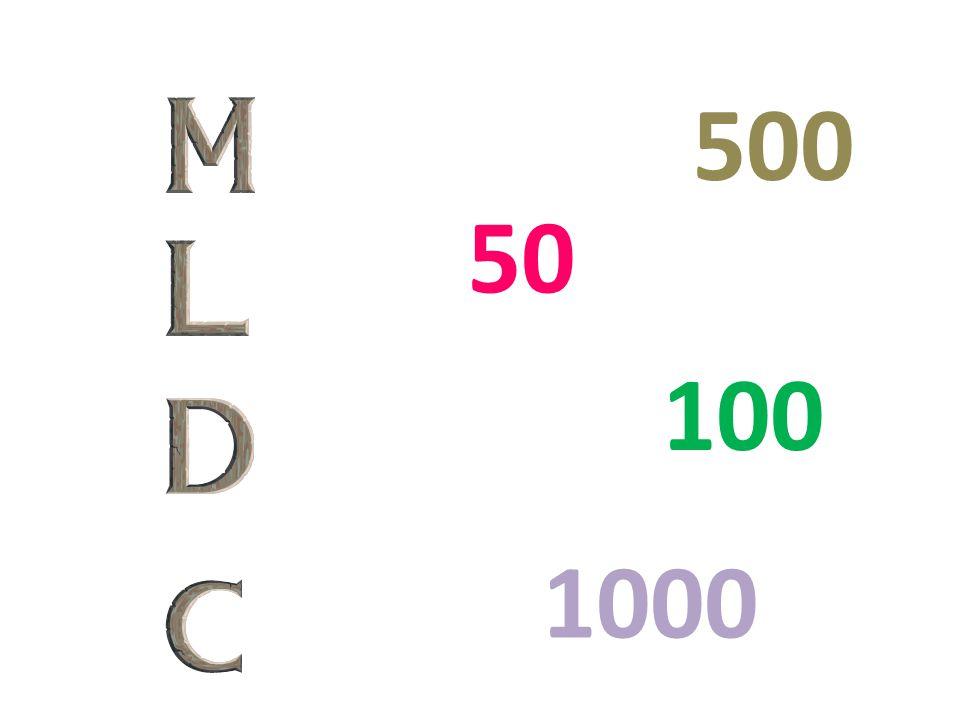 100 50 1000 500