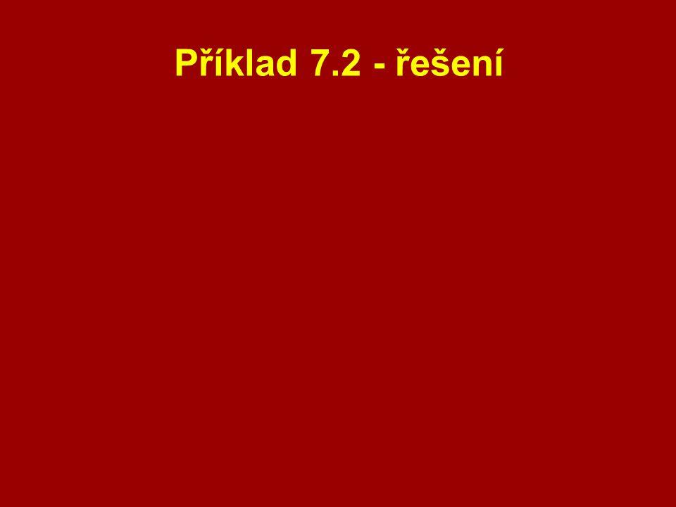 Příklad 7.2 - řešení