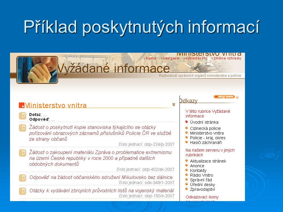 Informace, které úřady poskytly žadatelům, zveřejní též na webu
