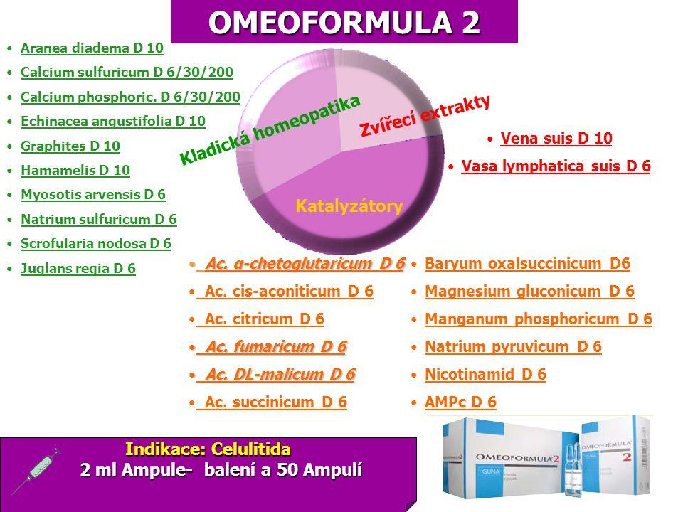 OMEOFORMULA 2 Baryum oxalsuccinicum D6 Magnesium gluconicum D 6 Manganum phosphoricum D 6 Natrium pyruvicum D 6 Nicotinamid D 6 AMPc D 6 Aranea diadem