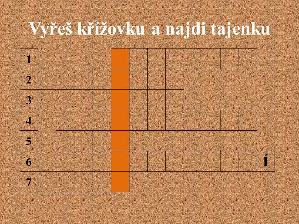 Vyřeš křížovku a najdi tajenku 1 2 3 4 5 6 Í 7