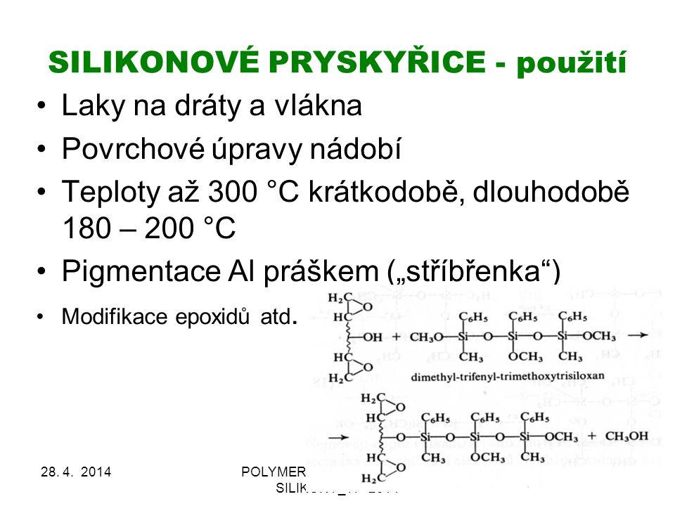 SILIKONOVÉ PRYSKYŘICE - použití 28.4.
