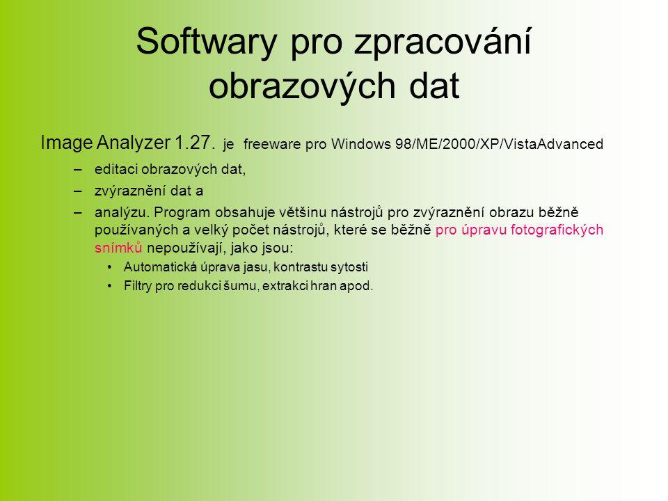 Softwary pro zpracování obrazových dat Image Analyzer 1.27.