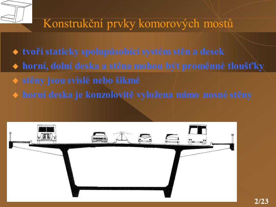 13/23 Svislé předpětí stěn a příčné předpětí v desce horní mostovky
