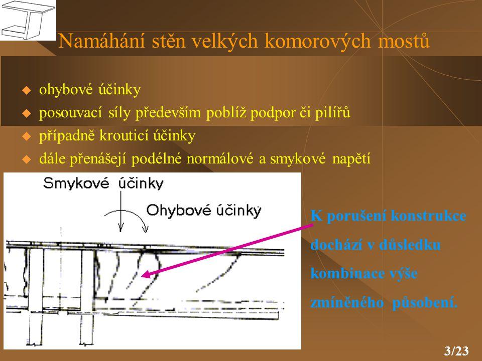 4/23  podélných - přenášejí hlavní zatížení konstrukce  svislých - vyztužují stěny ve svislém směru  příčných - vyztužují horní popř.