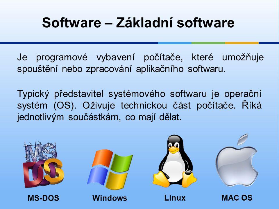 Je programové vybavení počítače, které umožňuje spouštění nebo zpracování aplikačního softwaru.