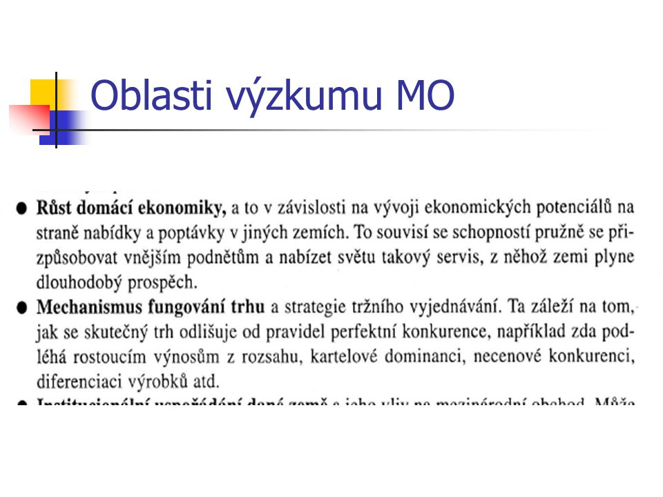 Oblasti výzkumu MO