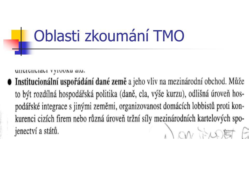 Oblasti zkoumání TMO