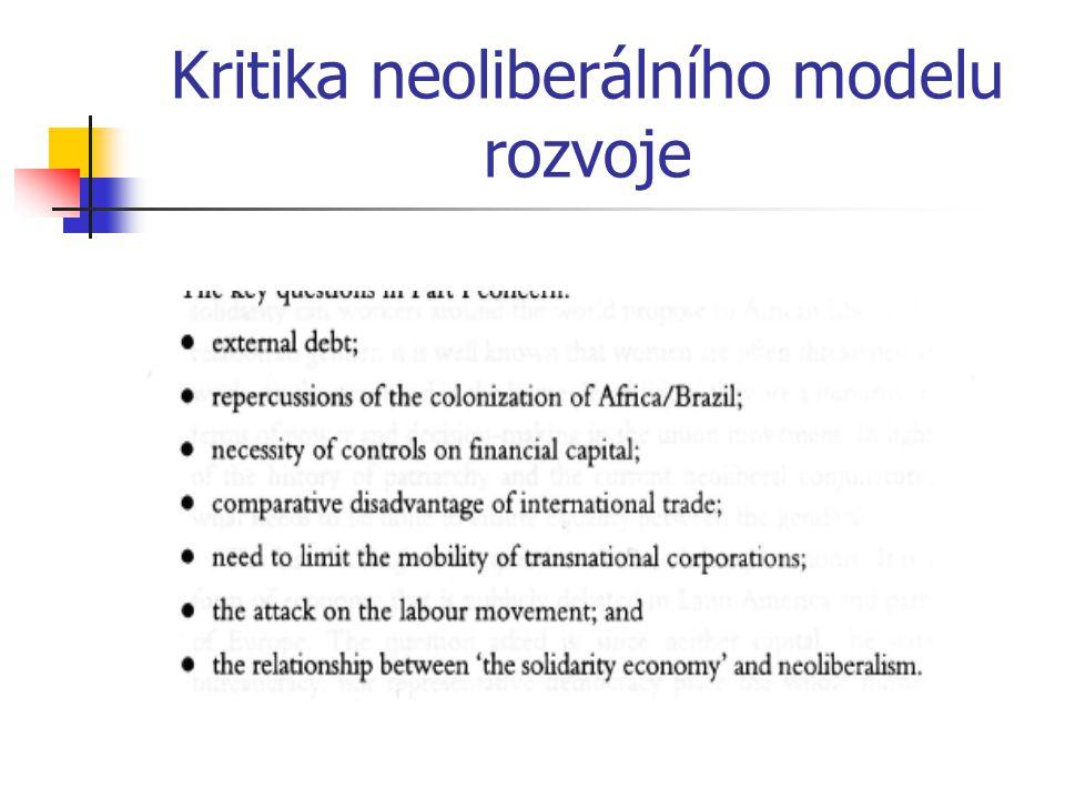 Kritika neoliberálního modelu rozvoje