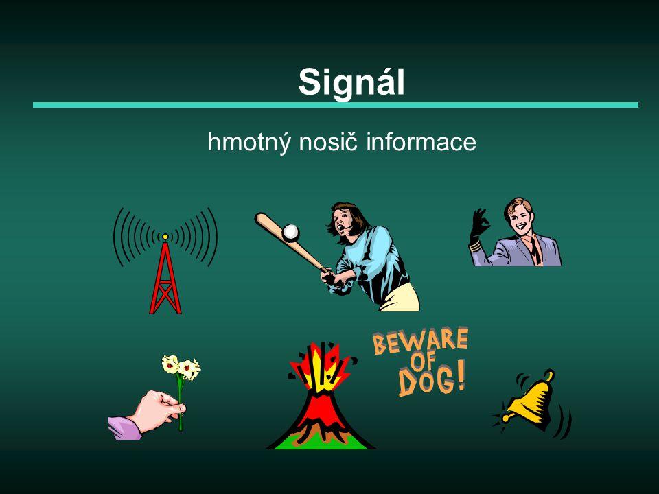 Signál hmotný nosič informace