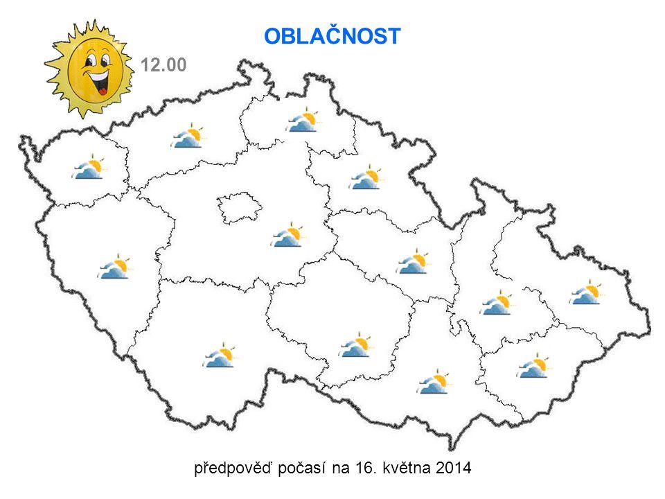 předpověď počasí na 16. května 2014 12.00 OBLAČNOST