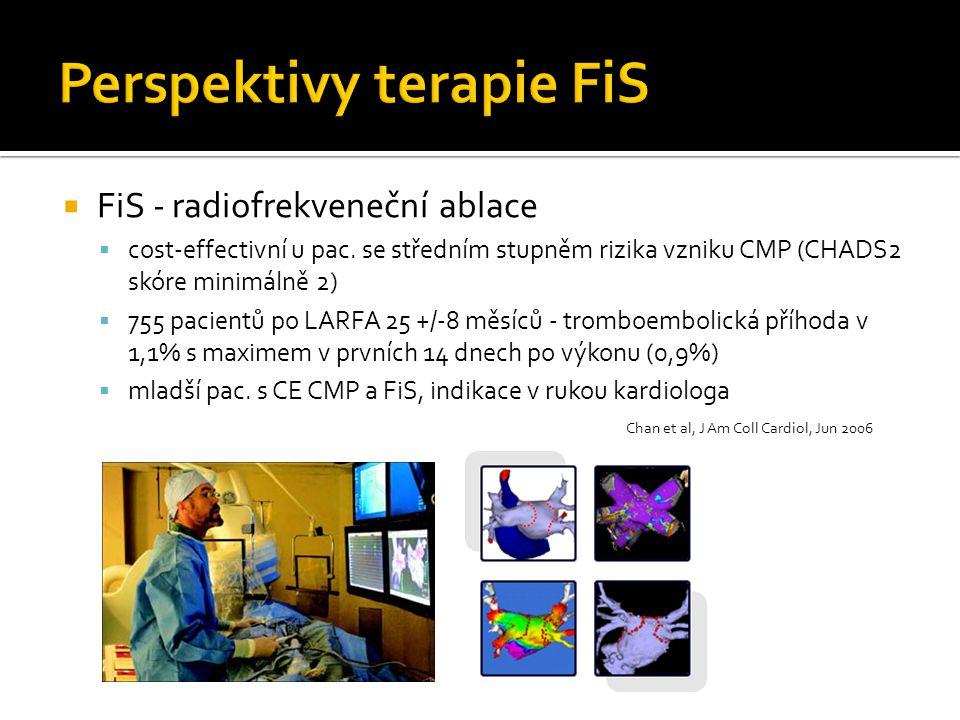  FiS - radiofrekveneční ablace  cost-effectivní u pac. se středním stupněm rizika vzniku CMP (CHADS2 skóre minimálně 2)  755 pacientů po LARFA 25 +