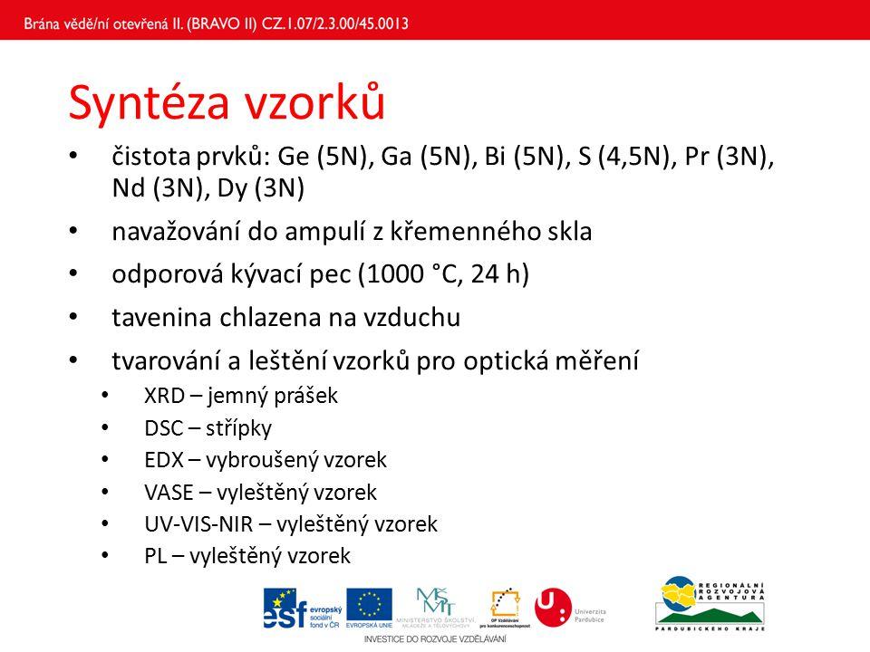 Poděkování Děkuji Univerzitě Pardubice a projektu BRAVO II, že mi umožnili podílet se na tomto výzkumu.