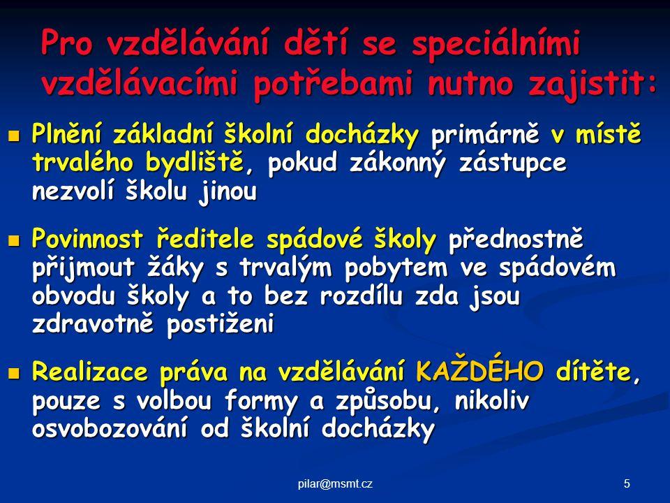 6pilar@msmt.cz Vyhláška č.73 / 2005 Sb.