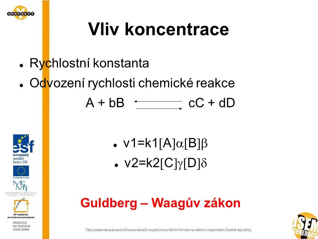 Vliv skupenství na rychlost chemické reakce Proč a jak se mění rychlost chemické reakce vlivem skupenství?