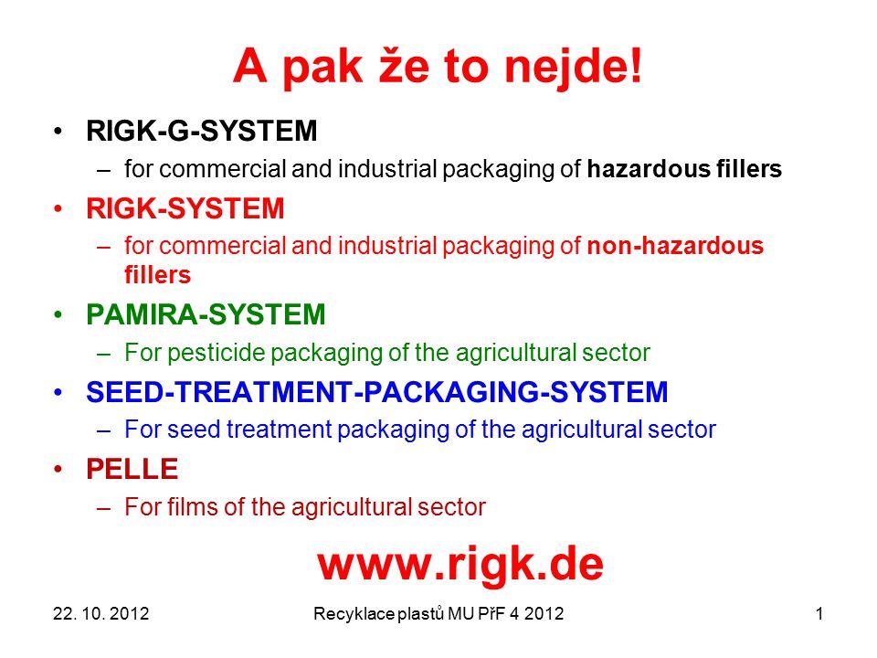 Drcení trubek a profilů Recyklace plastů MU PřF 4 20122222. 10. 2012