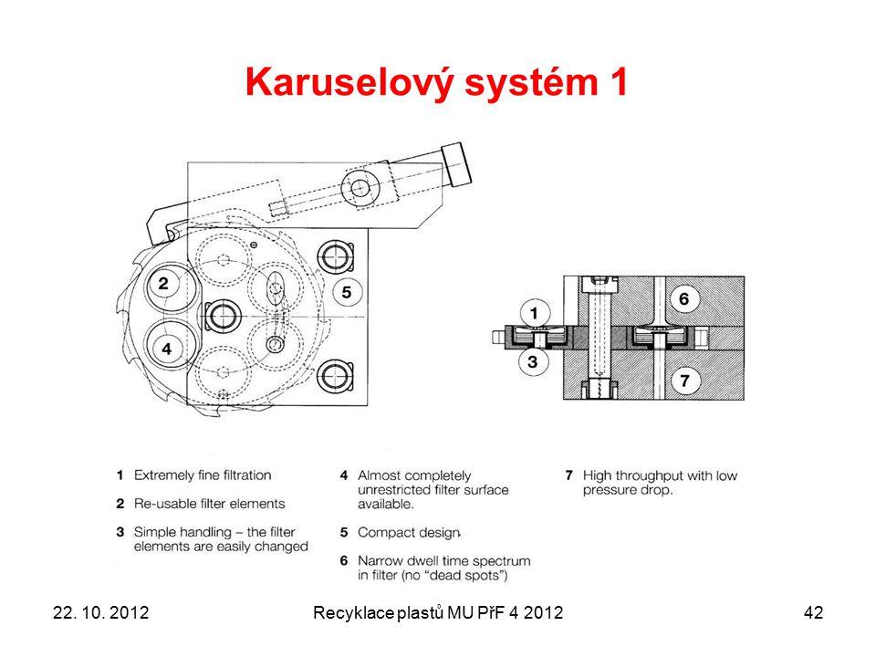Karuselový systém 1 Recyklace plastů MU PřF 4 20124222. 10. 2012