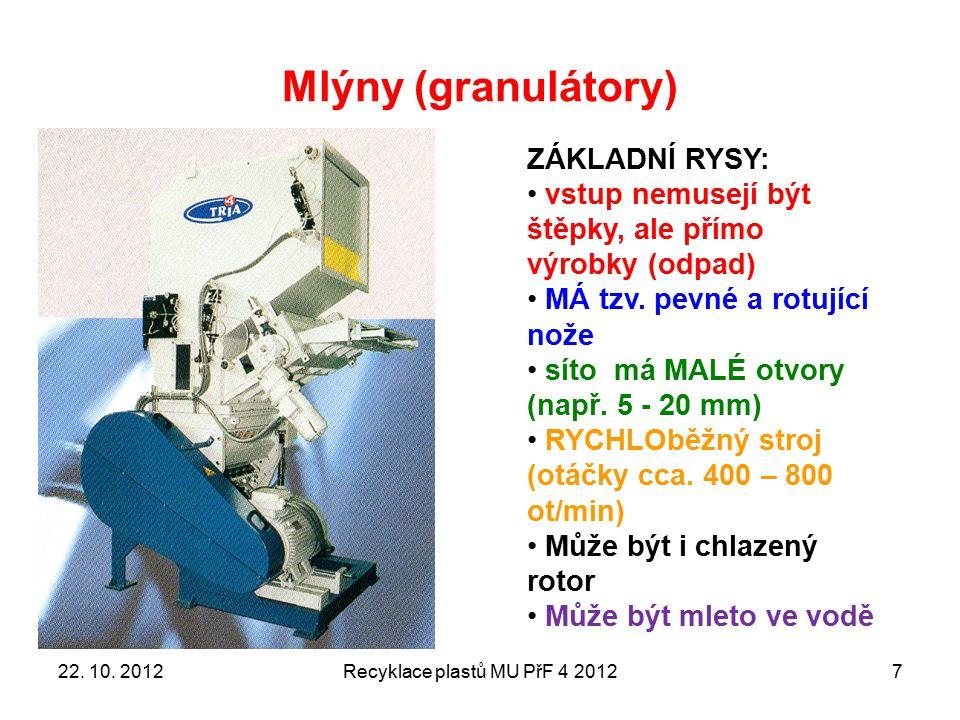 KAM JSME NYNÍ DOSPĚLI Recyklace plastů MU PřF 4 201228 Toto jsme nepoužili Toto jsme použili, ale v jiném technickém provedení 22.