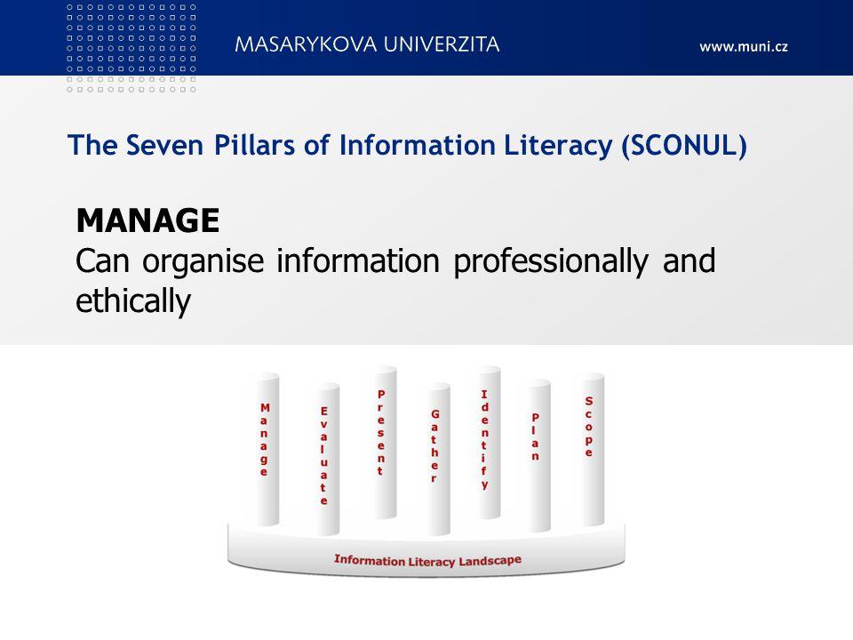 Na příště nastudovat Information Literacy Competency Standards for Higher Education © American Library Association, 2000 Dostupné v ISu 20