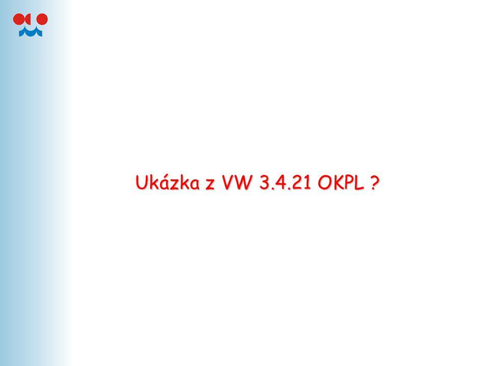 Ukázka z VW 3.4.21 OKPL
