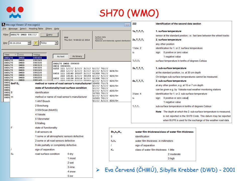 SH70 (WMO)  Eva Červená (ČHMÚ), Sibylle Krebber (DWD) - 2001