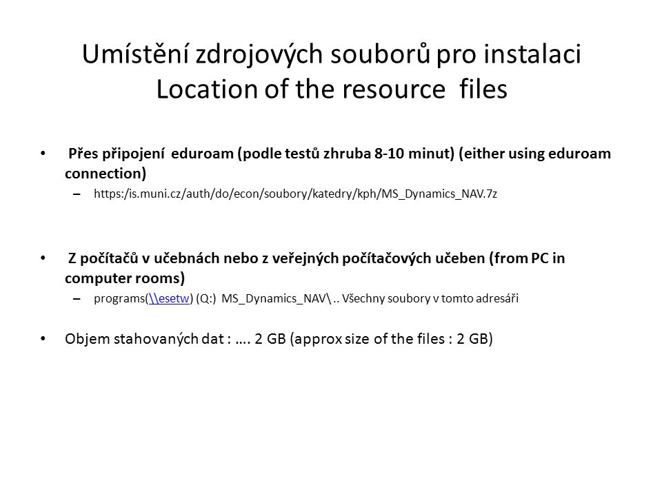 Instalace XI / Installation XI Right mouse button and find fin.exe file