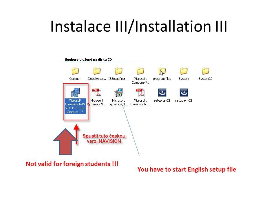 Instalace IV/Installation IV NEXT